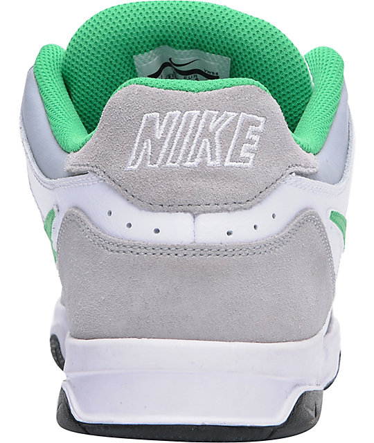Nike 6.0 Oncore Grey, White, & Green Shoes