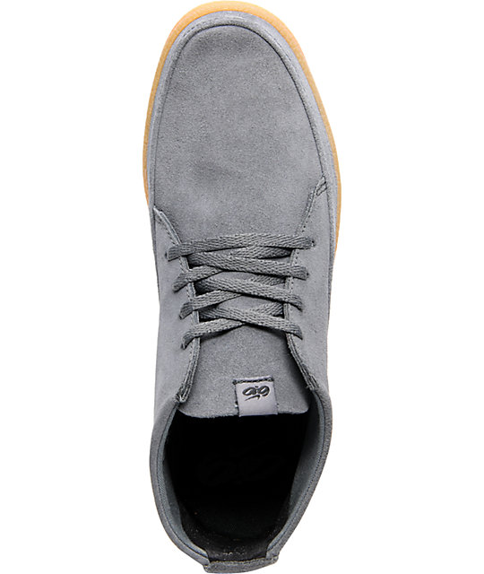 Nike 6.0 Rzol Low Grey Suede & Gum Skate Shoes
