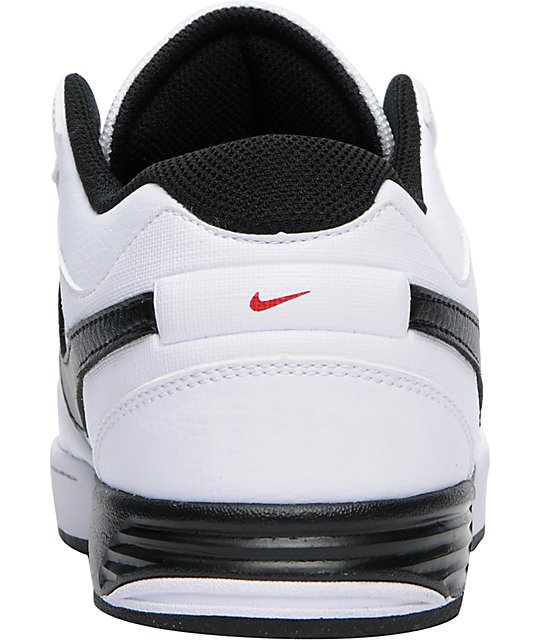 Nike 6.0 Zoom Mogan 3 Lunarlon White, Black & Red Shoes