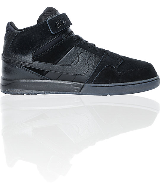 Nike 6.0 Zoom Mogan Mid 2 Black Skate Shoes