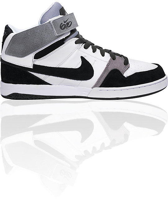 best cheap multiple colors classic styles Nike 6.0 Zoom Mogan Mid 2 White & Black & Wolf Grey Shoes | Zumiez