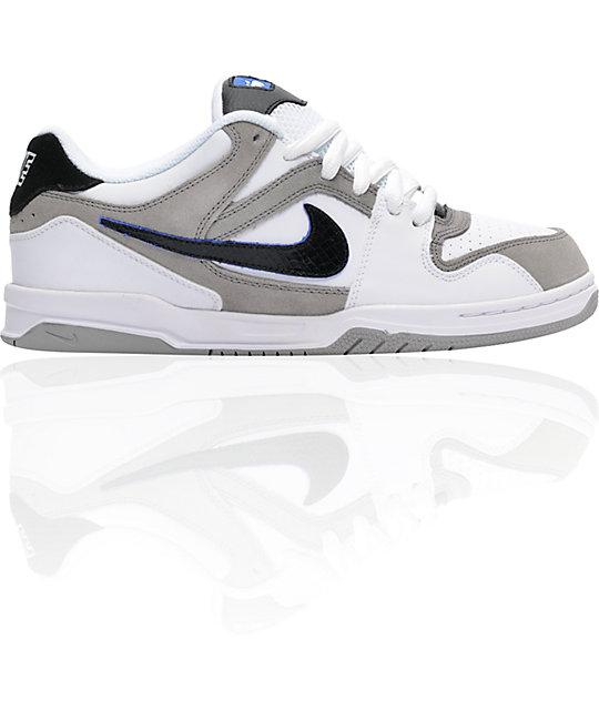 Nike 6.0 Zoom Oncore White, Black & Medium Grey Shoes | Zumiez