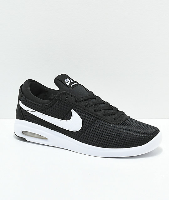 fd75101b9d9f68 Nike Air Max Bruin Vapor Black   White Skate Shoes