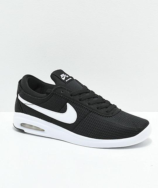 Nike Air Max Bruin Vapor Black & White Skate Shoes