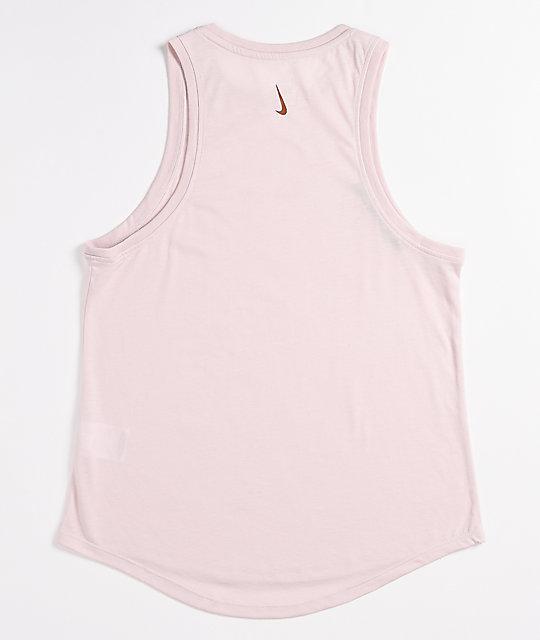 Nike Dri Fit Pink Yoga Tank Top Zumiez