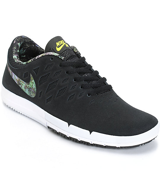 Nike Free SB Black & Gorge Green Shoes ...