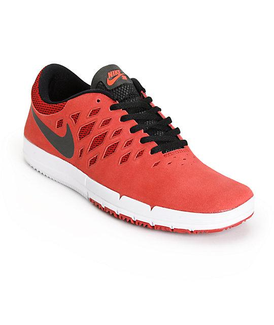 Nike Free SB Gym Red & Black Shoes ...