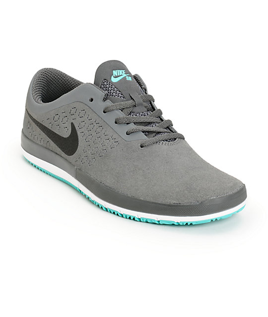 lower price with huge inventory low priced Nike Free SB Nano Dark Grey & White Shoes