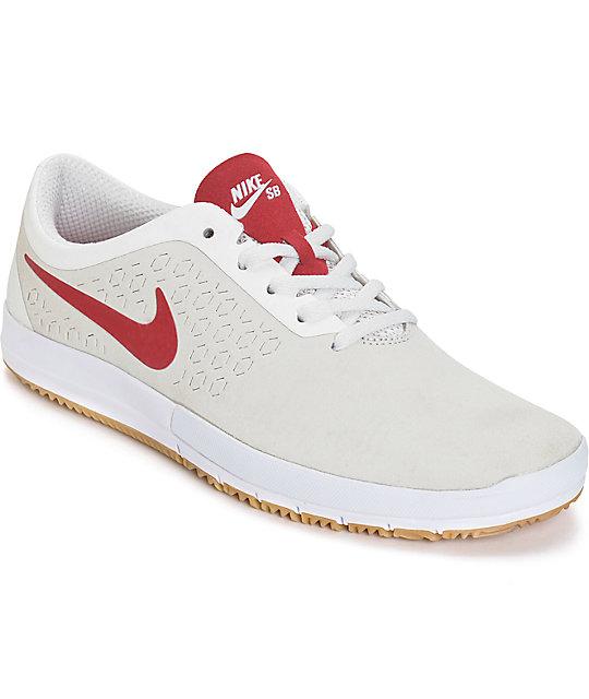 hot sale online 51200 80e54 Nike Free SB Nano Summit White   Gym Red Shoes   Zumiez