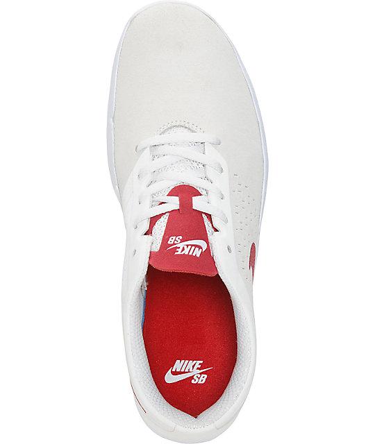 on sale 6616e 83551 ... Nike Free SB Nano zapatos de color Cumbre blanco y Gimnasio rojo ...