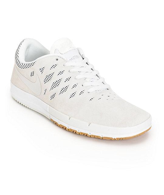 Nike Libre Sb Blanc Et Brun Clair