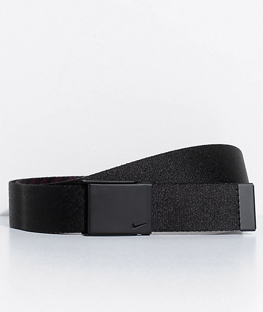 Nike Hazard Stripe Black & Red Web Belt
