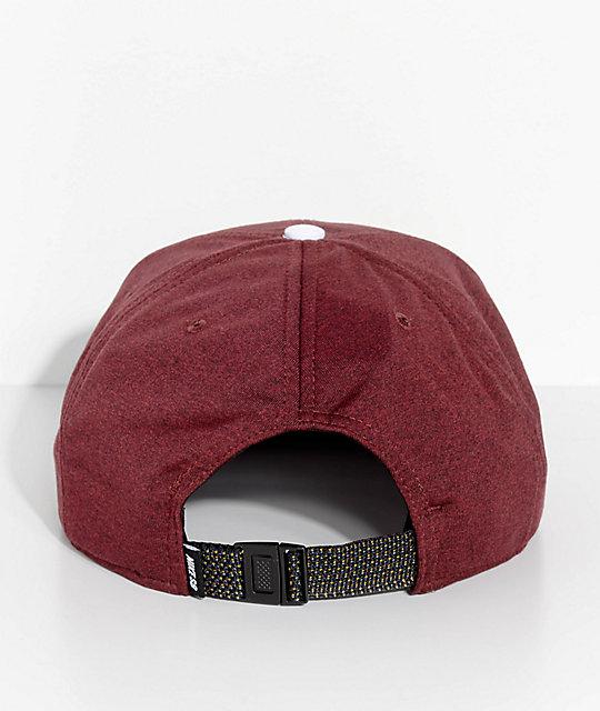 cc813dfa9439 ... Nike SB AeroBill Dri-Fit Burgundy   White Strapback Hat ...