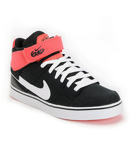 watch b773d 8254c Nike SB Air Mogan Mid 2 LR Black   Infared Shoes   Zumiez