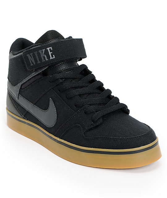 Nike SB Air Mogan Mid 2 SE Black & Gum Rip Stop Shoes