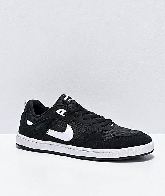 Nike SB Alleyoop Black & White Skate Shoes