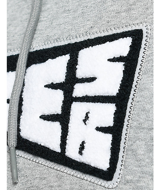 Nike SB Banner Icon Heather Grey Pullover Hoodie