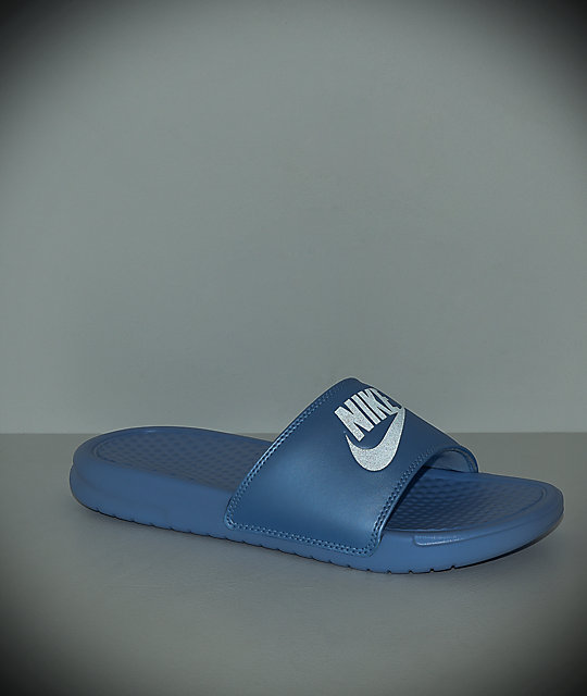 Nike SB Benassi Blue Metallic Slide Sandals