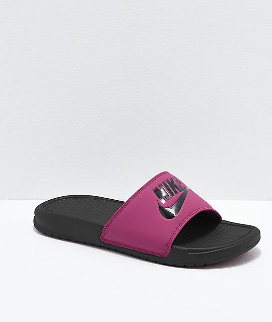 Nike SB Benassi True Berry Slide Sandals  7645c440a236