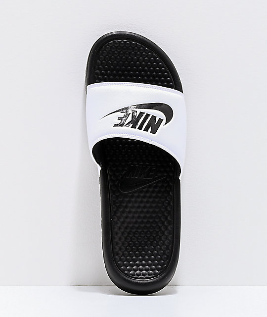 d5cb24e22f3d ... Nike SB Benassi White   Black Slide Sandals ...