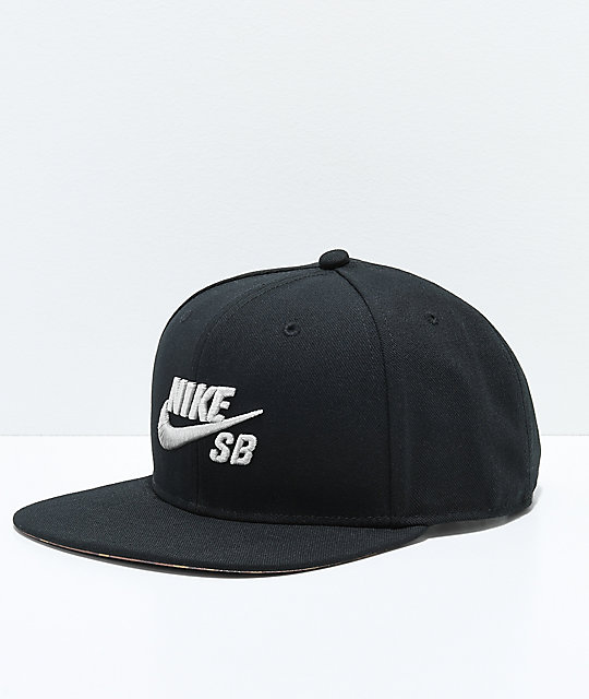 Nike SB Black & Light Bone Camo Snapback Hat