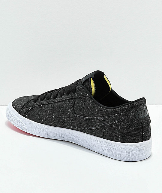 Nike SB Blazer Low Deconstructed Anthracite Canvas Skate Shoes