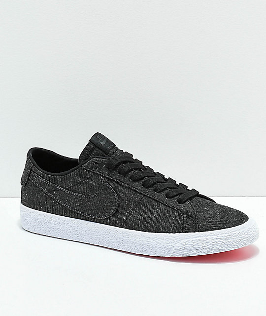 c181267926fcb Nike SB Blazer Low Deconstructed Anthracite Canvas Skate Shoes