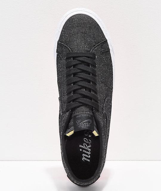 new styles ac80e f525b Nike de Blazer Low lienzo zapatos Deconstructed SB Anthracite skate rqrxOBg