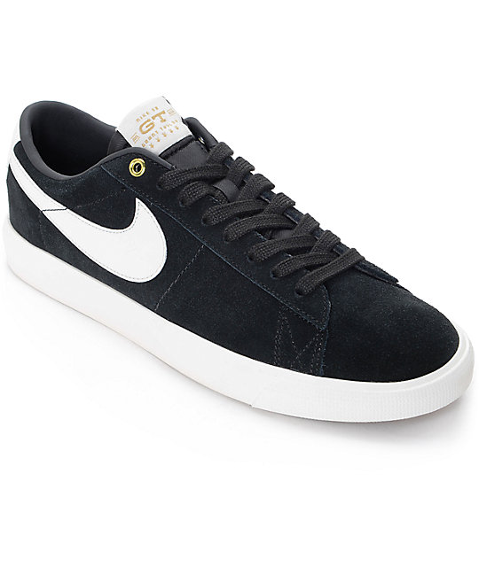 63c7a01d845e Nike SB Blazer Low GT Black   White Skate Shoes