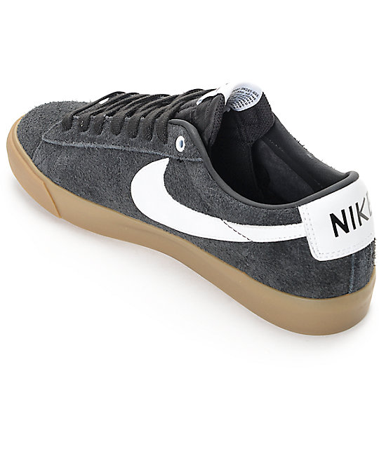 uk availability c7c31 25bdc ... france nike sb blazer low gt black gum suede skate shoes d4af4 607d0