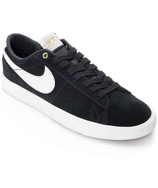 nike sb blazer low gt zapatos de skate en blanco y negro zumiez rh zumiez com