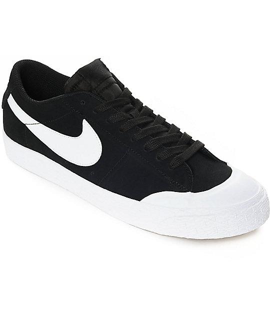 Nike SB Blazer XT Low Black & White Suede Skate Shoes ...