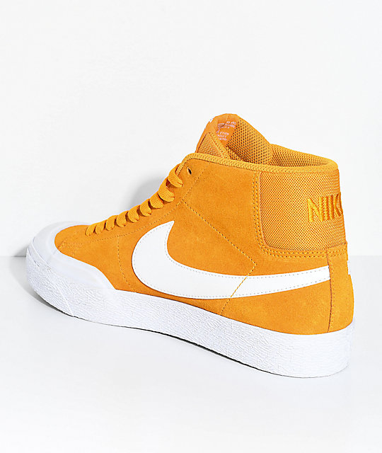 Nike SB Blazer XT Mid Orange & White Skate Shoes