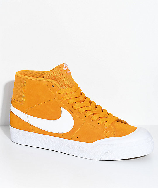 official photos b51de c0d7a Nike SB Blazer XT Mid Orange   White Skate Shoes   Zumiez