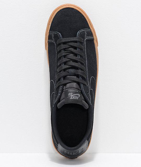 383924045ddf ... Nike SB Blazer Zoom Low Black   Gum Skate Shoes ...