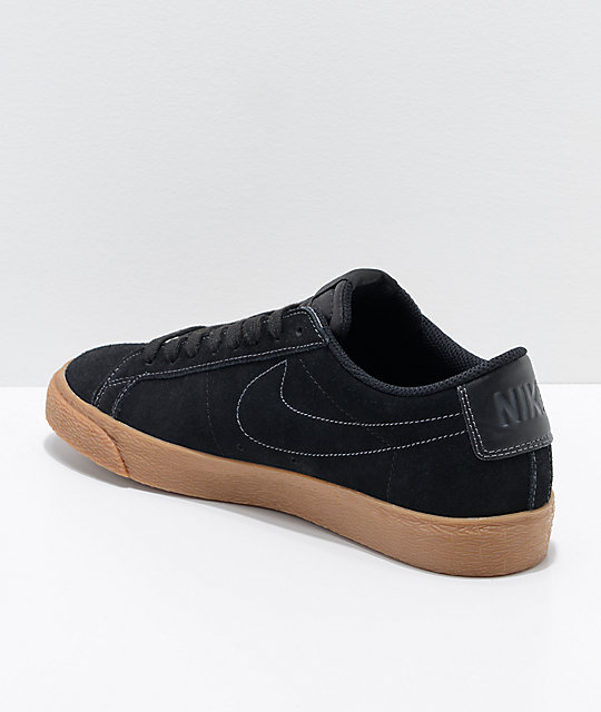 super popular c51b4 465f1 ... best price nike sb blazer zoom low black gum skate shoes 374af 6f904