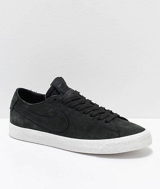 Nike SB Blazer Zoom Low Deconstructed Black   White Skate Shoes  a5922e966