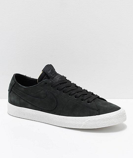 Nike SB Blazer Zoom Low Deconstructed Black & White Skate Shoes