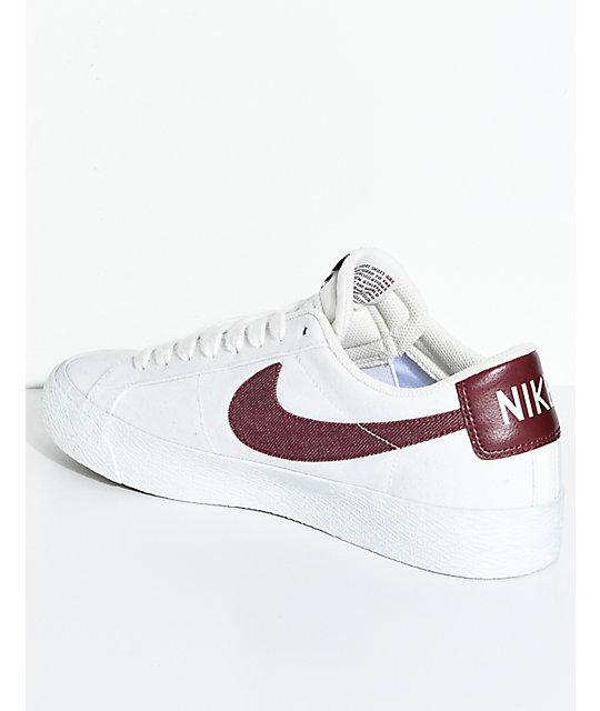 Nike Chaussure De Patin Blazer Blanc Rouge