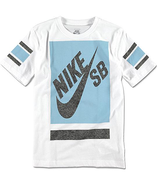 a141ae766 Nike SB Block Boys White T-Shirt   Zumiez