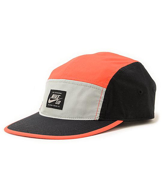 ad568517cb8ad Nike SB Blocked Infrared 5 Panel Hat