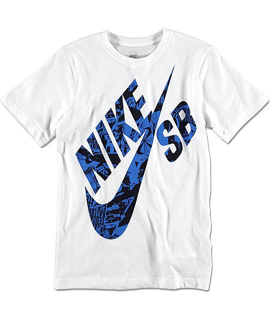 Nike SB Boys Rip Fill White T-Shirt   Zumiez