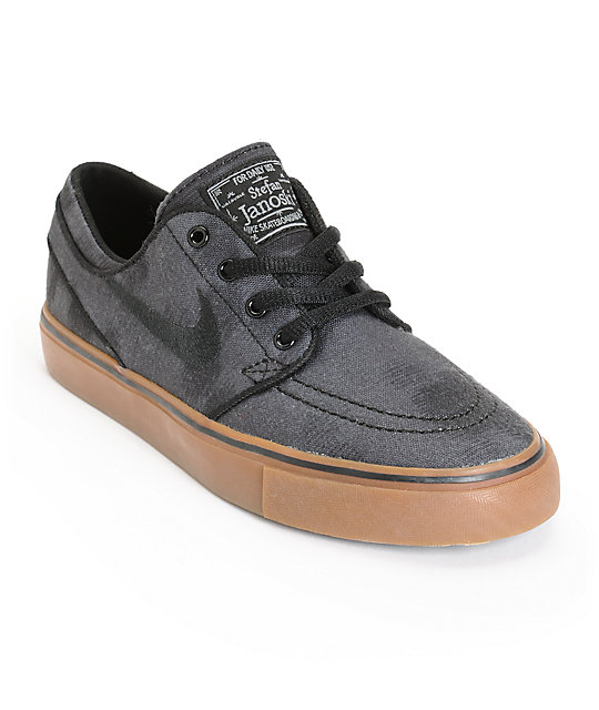 Nike SB Boys Zoom Stefan Janoski Canvas Print Skate Shoes  5f9898596