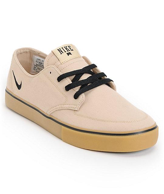 Nike SB Braata LR Tan & Gum Canvas Skate Shoes ...
