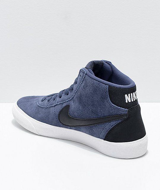 where can i buy classic styles official photos Nike SB Bruin Hi Thunder Blue & Summit White Skate Shoes