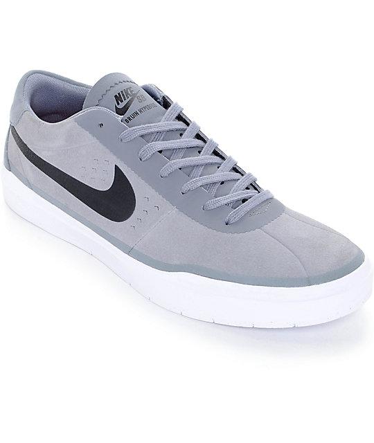 Nike SB Bruin Hyperfeel Cool Grey & Black Skate Shoes ...