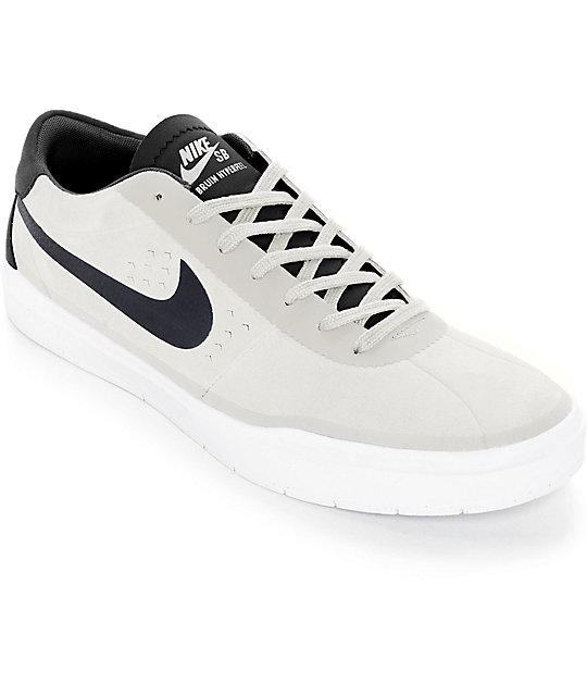... Nike SB Bruin Hyperfeel Summit White & Black Skate Shoes Zumiez