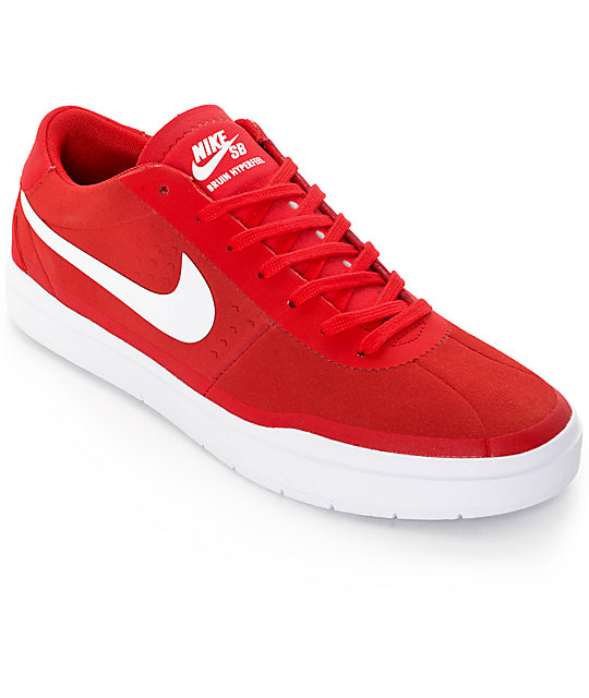 7e2aa3d199d Nike SB Bruin Hyperfeel University Red   White Skate Shoes