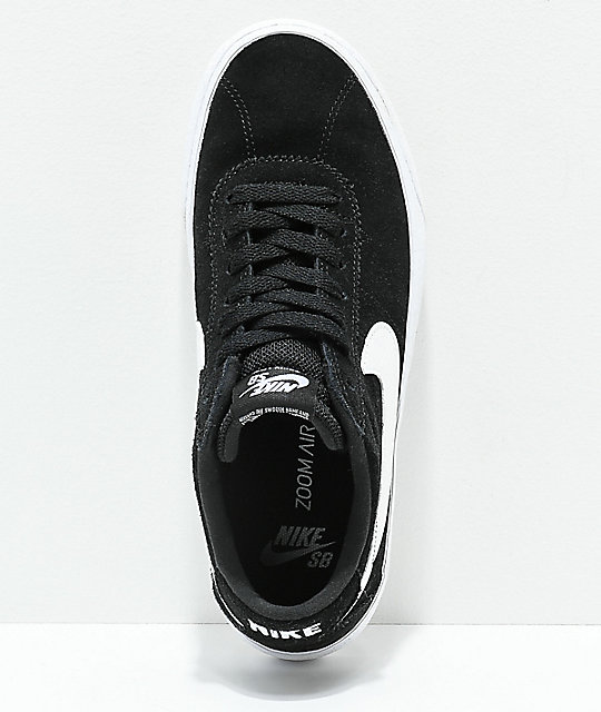 Nike SB Bruin Low Black & White Skate Shoes