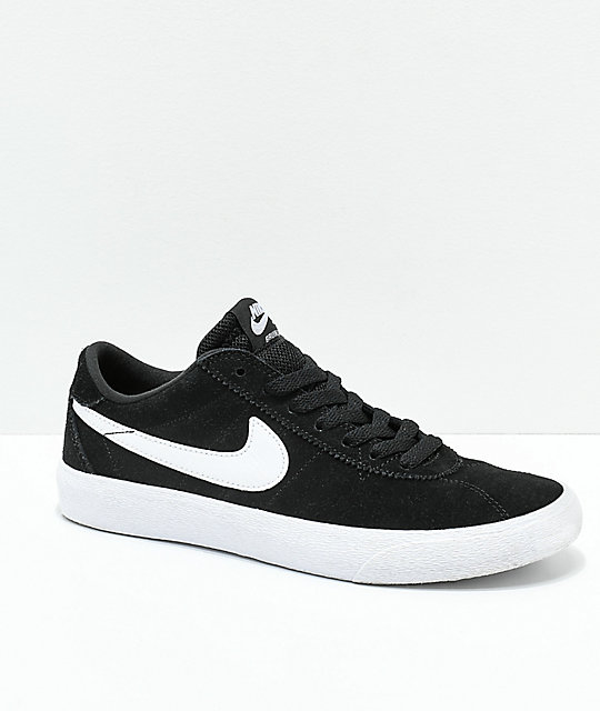 e42ec96c02dd3 Nike SB Bruin Low Black   White Skate Shoes